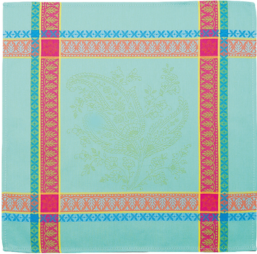 French kitchen towels jacquard turquoise casses