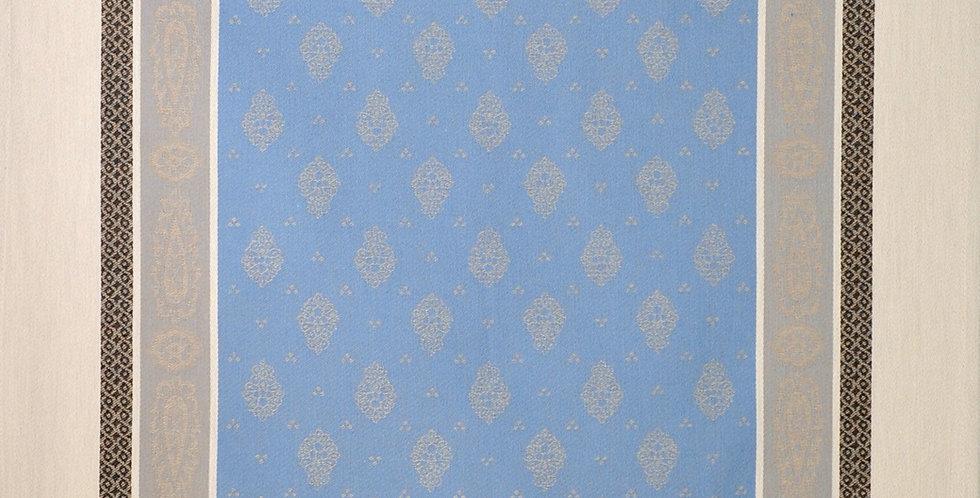 French Kitchen Towel Jacquard Blue/Beige Vaucluse