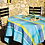 """Thumbnail: French Tablecloth Jacquard 70"""" Round Turquoise Maussane"""