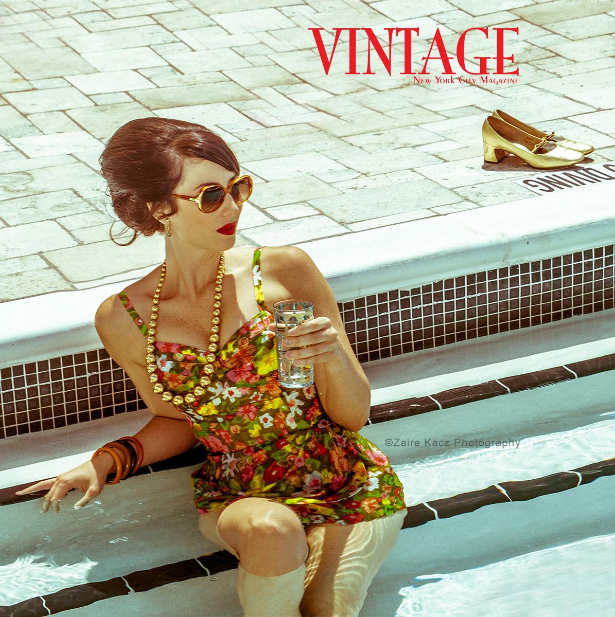 Retro Pool-Vintage-Editorial-NYC-mag