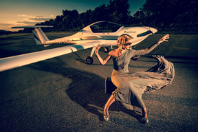"""Classic Vintage Aviation Glamour"""