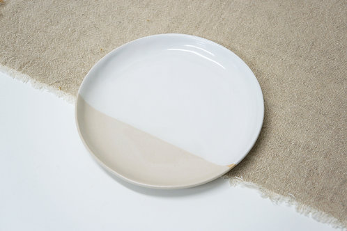 Side Plate- White and Transparent
