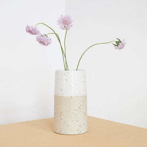 Large Vase- White Speckle