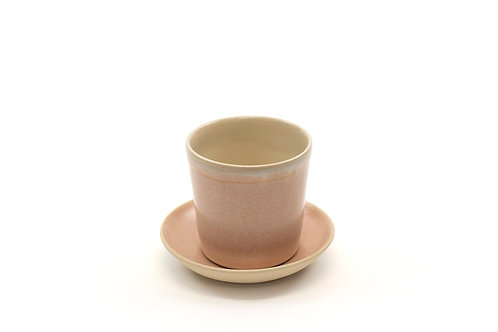 5oz cup & saucer- Coral Sand