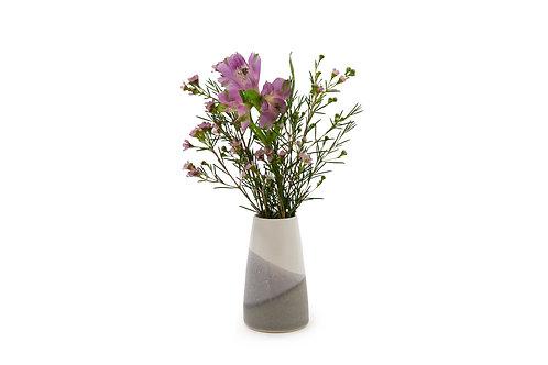 Bud Vase- White/Grey