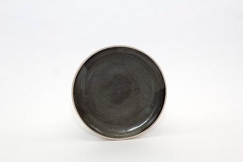 Side Plate-Black brush stroke