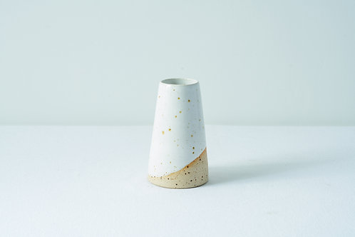 Speckle Bud Vase- White