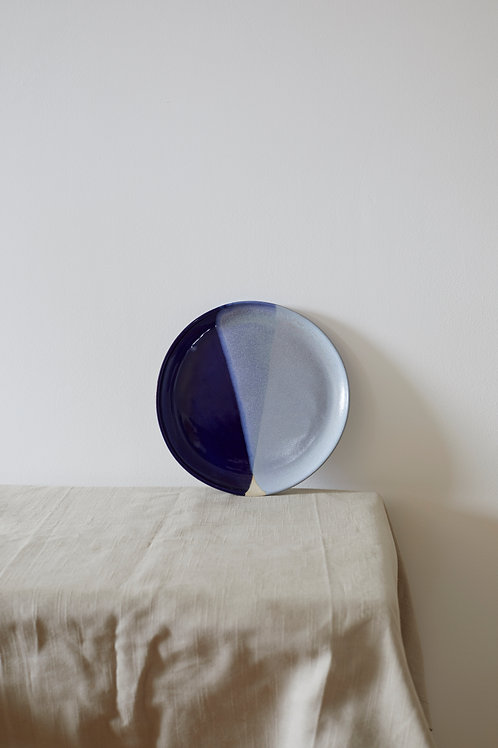 Side Plate- Blue overlap