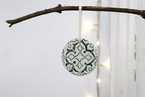 Green circular decoration