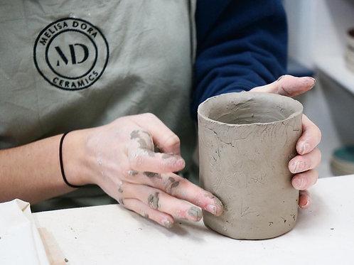 Tumbler/Beaker workshop- Hand building