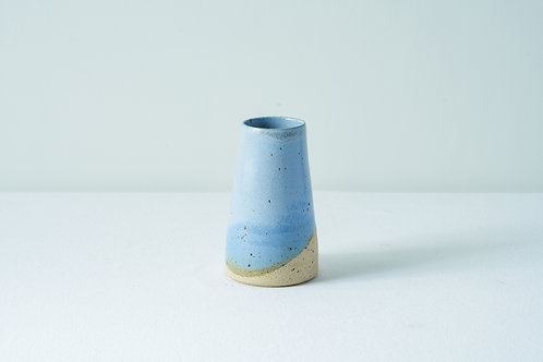 Speckle Bud Vase- Grey/blue