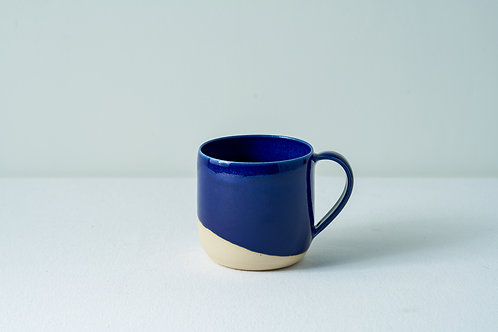 12 oz Handled cup- Navy Blue