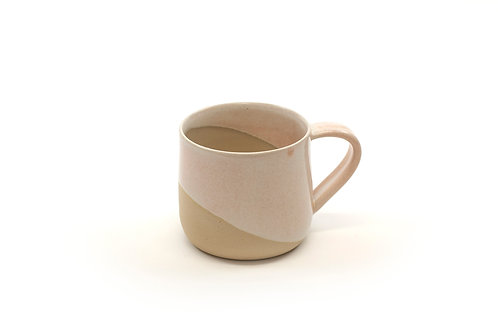 8oz Handled cup- Coral Sand