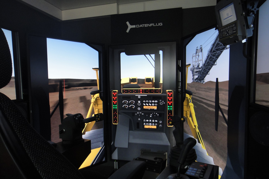 Virtuelles Training Dozer Simulator