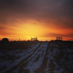 stonehedge sunset