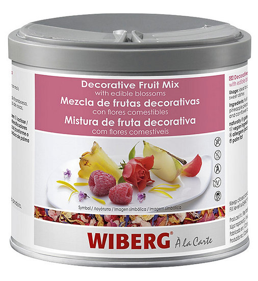 WIBERG Decor. fruit mix with edible blossoms 60g