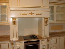 Кухня с гранитной столешницей.