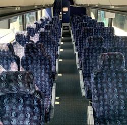 Inside 54 Passenger MCI J4500