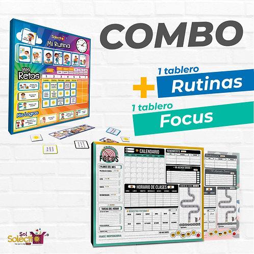 Combo: Tablero de Rutinas + Focus