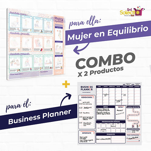 Combo: Business Planner + Mujer en Equilibrio