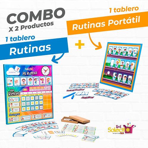 Combo: Tablero de Rutinas + Rutinas Portátil
