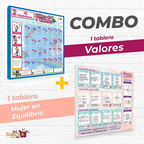 Combo: Valores + Mujer en Equilibrio