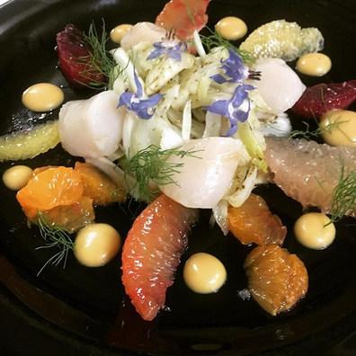 Nantucket scallops crudo, fennel salad