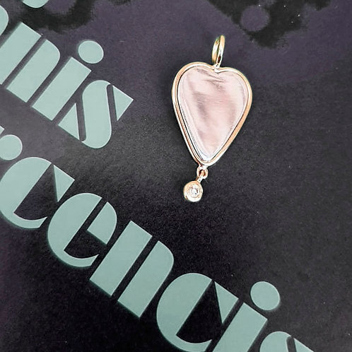 Pingente Coração com Diamante