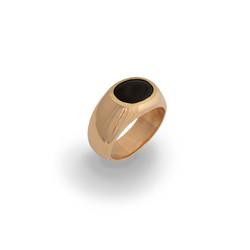 anel dedinho ouro chifre