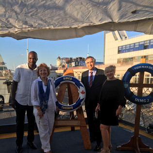 Ambassador Waschuk, DHoM, DoC and LTO on