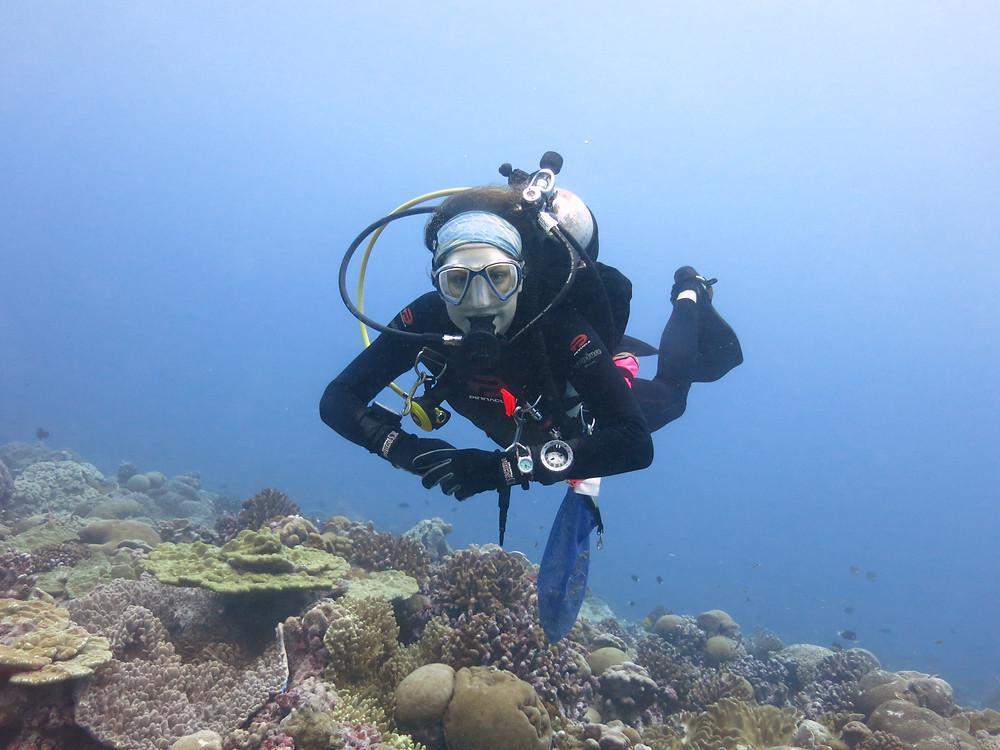 Lead author Danielle Claar near Christmas Island.