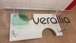 Table de verre Verallia