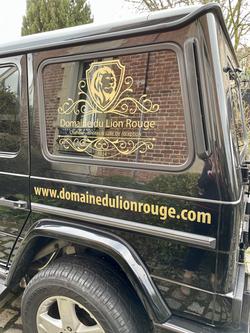 Marquage véhicule Domaine du Lion Rouge
