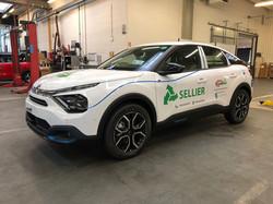 Marquage complet véhicule électrique Transports Sellier