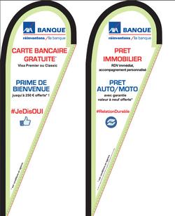Drapeaux AXA Banque