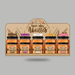Présentoirs de pots de miel - Avec mes A