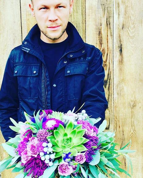 #novaflora #wnajwaznijszychchwilach #fiolet #bukietslubny #kwiatynaslub
