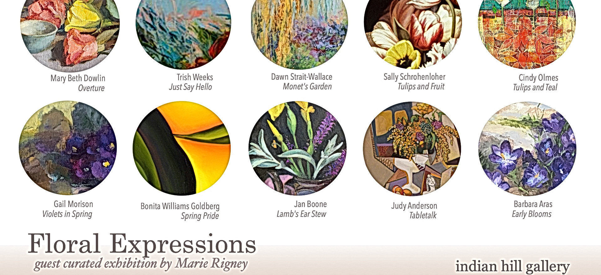 Floral Expressions, Guest Curated Exhibition by Marie Rigney