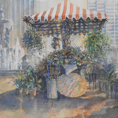 Frank McElwain, Flower Cart (Fountain Square)