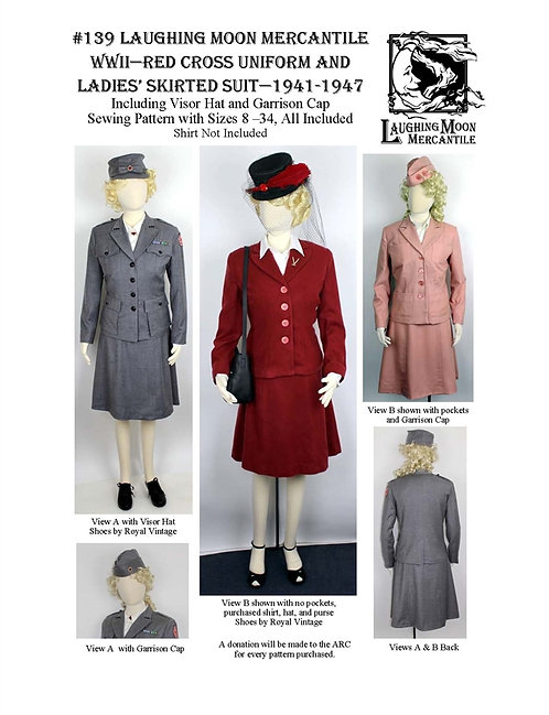 #139 Download - Ladies' Civilian and Skirted Suit 1940s and ARC Uniform