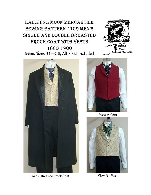 #109 Download - Men's Double and Single Breasted Frock Coats with 2 Vests