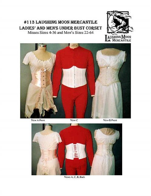 Pattern #113-Underbust Corsets, Men's and Ladies'