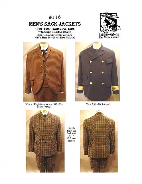 #116 Download - Men's Sack, Double Breasted, and Norfolk Jackets