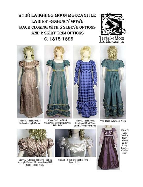 Pattern #138 Regency Back Closing Gown