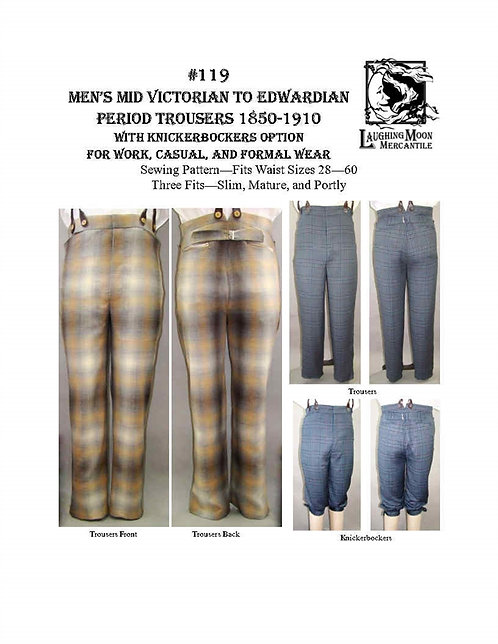 #119 Download - Men's Victorian and Edwardian Trousers 1850-1910
