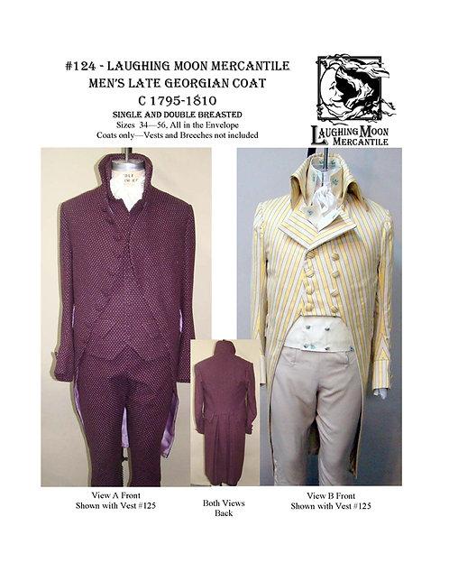 Pattern # 124 Men's Late Georgian Tailcoat