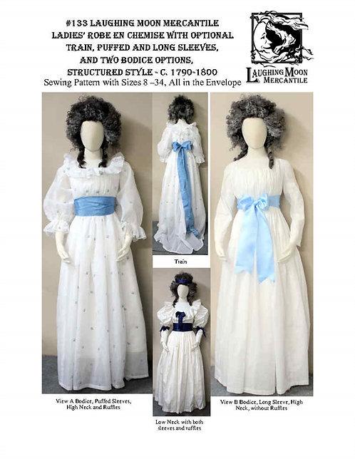 #133 Download - Ladies Robe en Chemise w/Optional Train