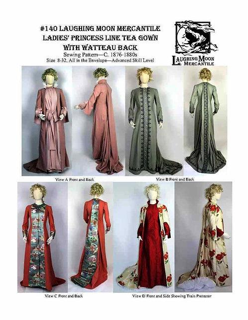 Pattern #140 Tea Gown Princess Line Watteau Back