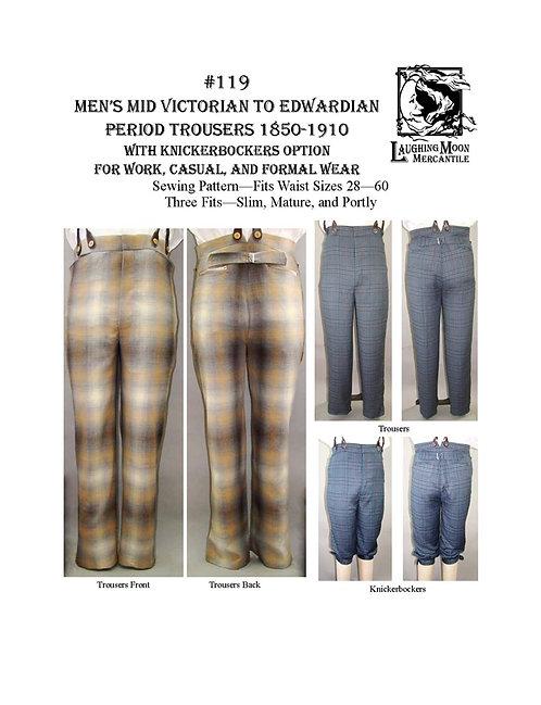 Pattern #119-Men's VictorianTrousers
