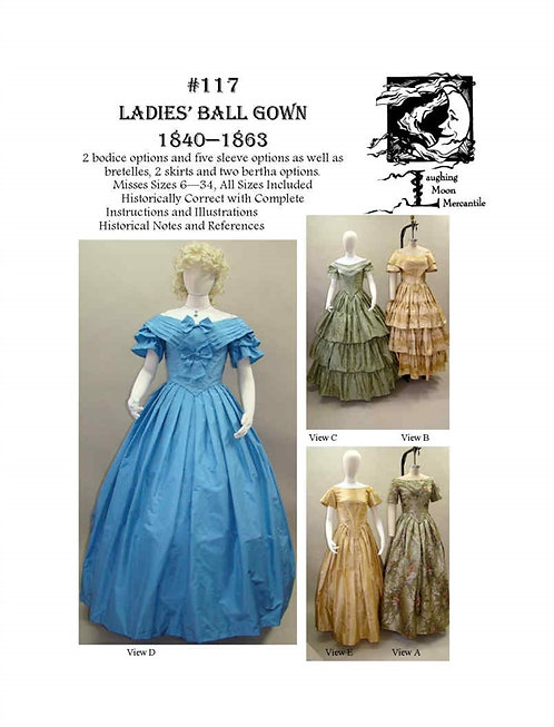 #117 Download - Ladies' Ball Gown 1840-1863